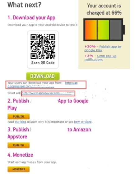 2create free mobile application freee